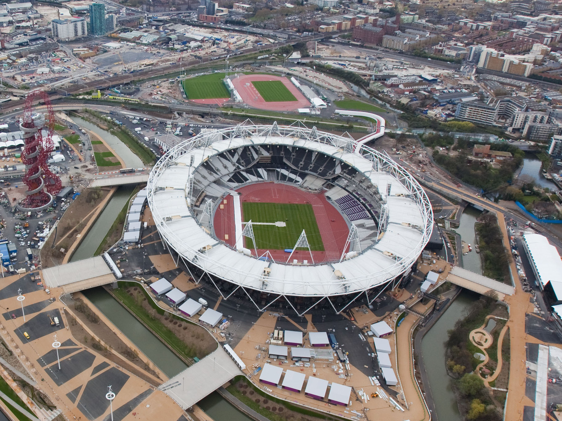 Aerial Shot of the London Olympic Stadium
