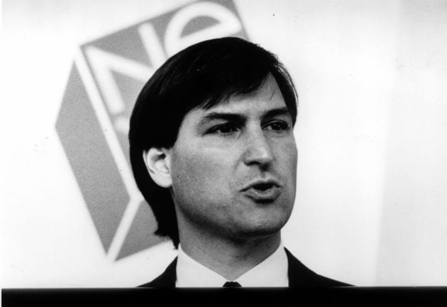 Steve Jobs speaking at a NEXT event