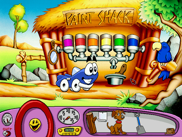 Putt Putt Saves The Zoo : When design and interface are dictated by the technology