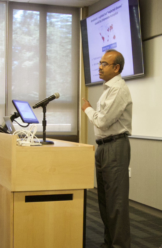 Anjan Debnath, Ph.D., Assistant Project Scientist, Skaggs School of Pharmacy and Pharmaceutical Sciences at the University of California San Diego, presents at the Sage Conference held on September 19, 2015 at Stanford University.