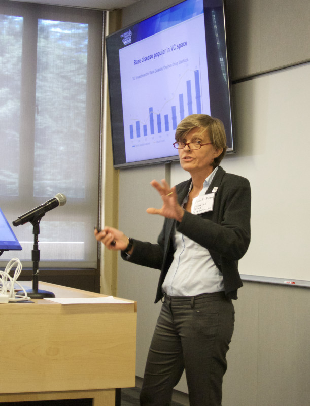 Annette Bakker, Ph.D., President and Chief Scientific Officer of the Children's Tumor Foundation, presents at the Sage Conference held on September 19, 2015 at Stanford University.