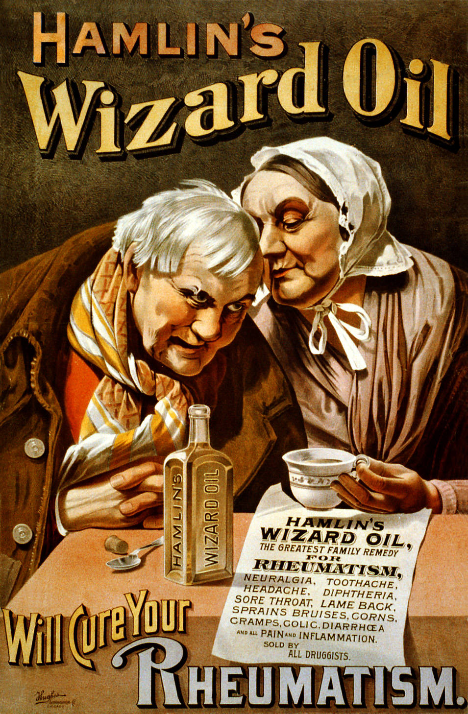 Hamlins wizard oil poster